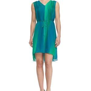 Watercolor teal Elie Tahari dress